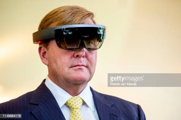 King Willem-Alexander attend an meeting about sustainability from the agriculture at the Botanical Gardens during day two of a three-day State visit...