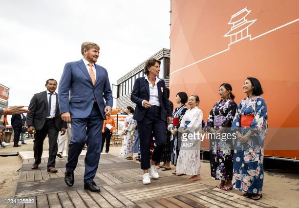 King Willem-Alexander during the opening of TeamNL Olympic Festival on the sports beach of The Hague. The three-week festival is dedicated to the...