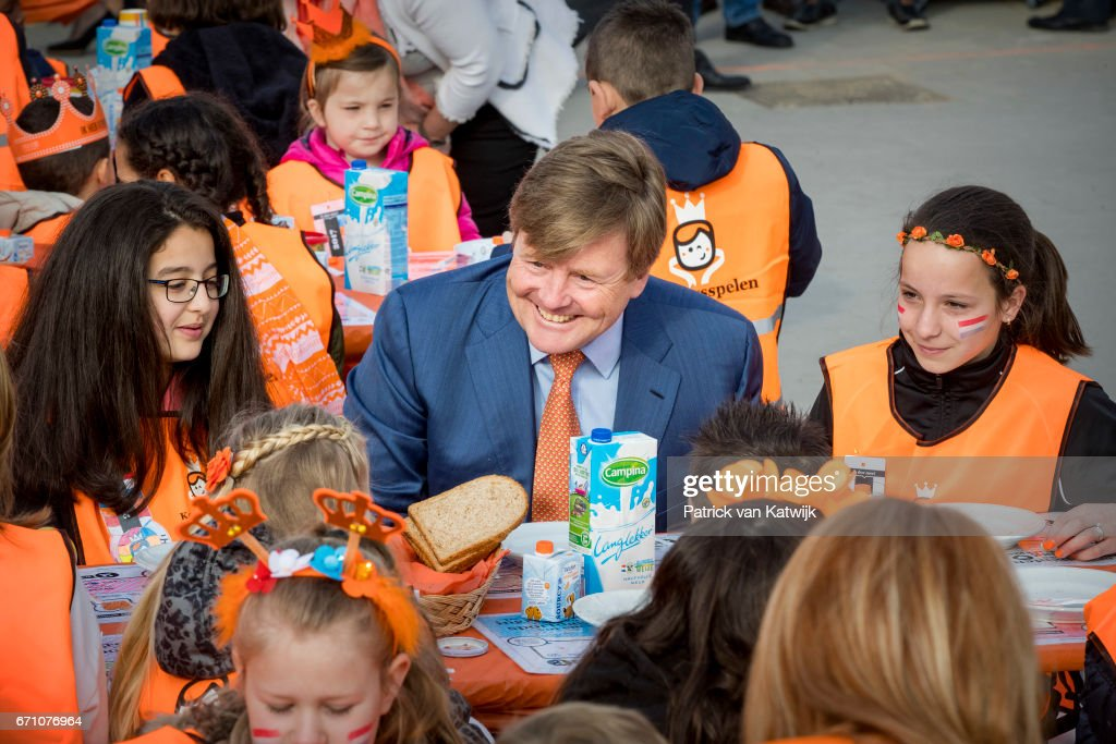 King Willem-Alexander Of The Netherlands and Queen Maxima Netherlands Attend The King's Games In Veghel : News Photo