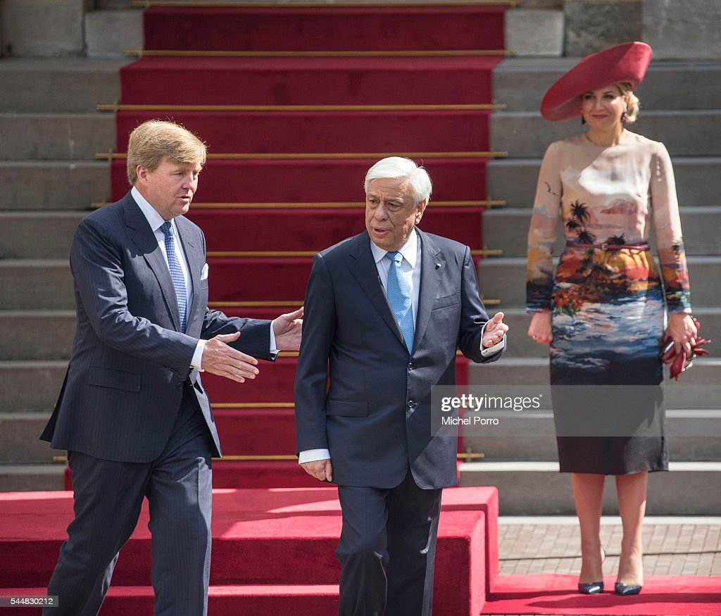 President Prokopis Pavlopoulos of Greece Visits The Netherlands : News Photo