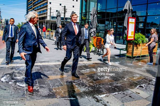 King WillemAlexander makes a working visit to Utrecht Central Station following the impact of the coronavirus pandemic on public transport