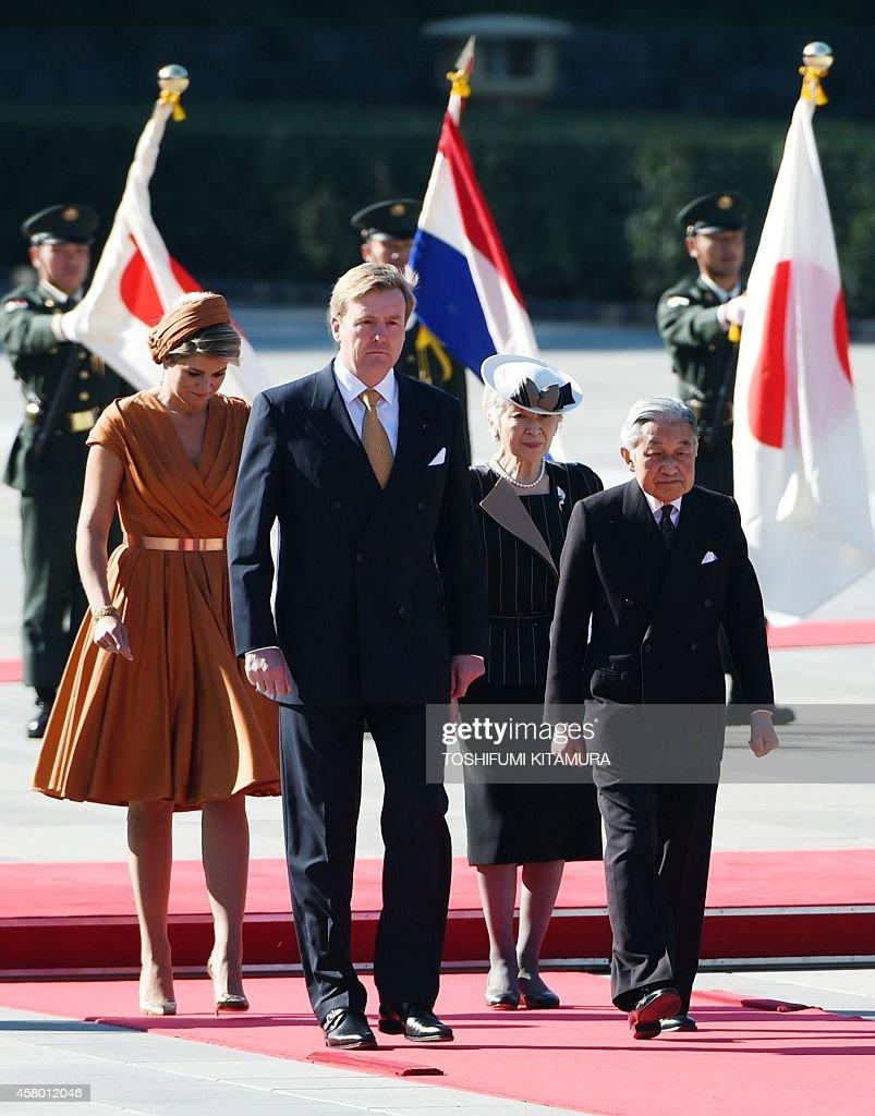 JAPAN-NETHERLANDS-ROYALS : News Photo