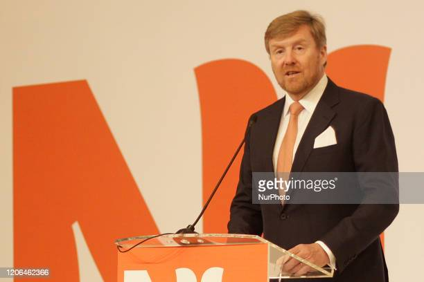 King WillemAlexander of Netherlands gave a speech during the Netherlands Mission to Indonesia event in Jakarta on March 10 2020 The event attended by...