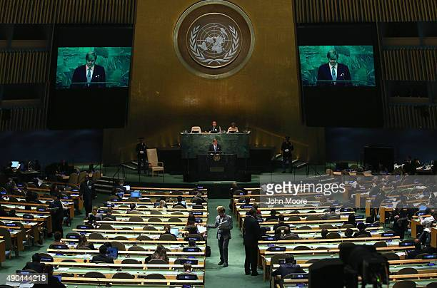 King WillemAlexander of the Netherlands addresses the United Nations General Assembly on September 28 2015 in New York City World leaders gathered...
