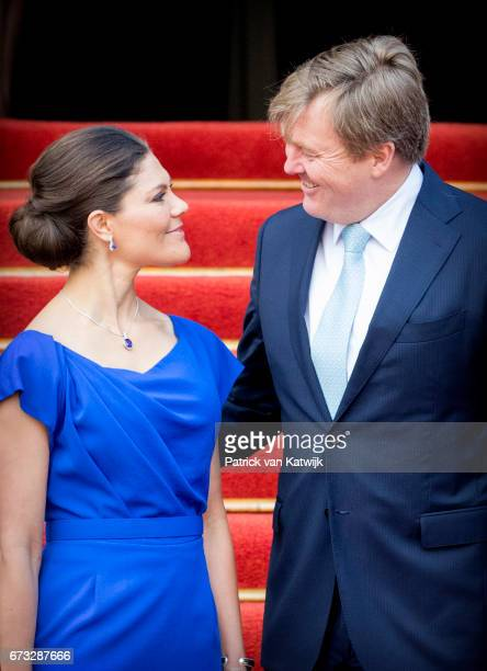 King WillemAlexander of The Netherlands and Crown Princess Victoria of Sweden attend 20th anniversary of the Organisation for the Prohibition of...