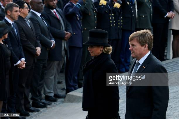 King WillemAlexander of The Netherlands and Dutch Queen Maxima attend the Remembrance Day in tribute to the victims of World War II at Dam Square in...