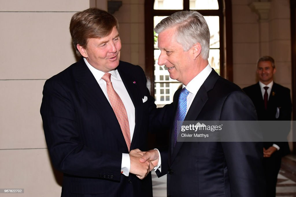 King Willem-Alexander of the Netherlands and King Philip of Belgium attend the 60 years Benelux Council celebration in the Royal Palace on June 5, 2018 in Brussels, Belgium.