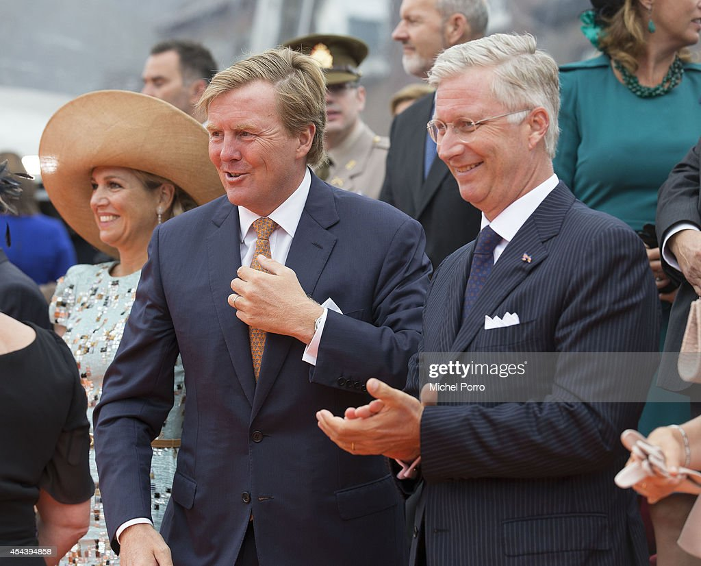 King Willem-Alexander of The Netherlands and King Philippe of Belgium attend celebrations marking the 200th anniversary of the kingdom of The Netherlandson August 30, 2014 in Maastricht, The Netherlands.