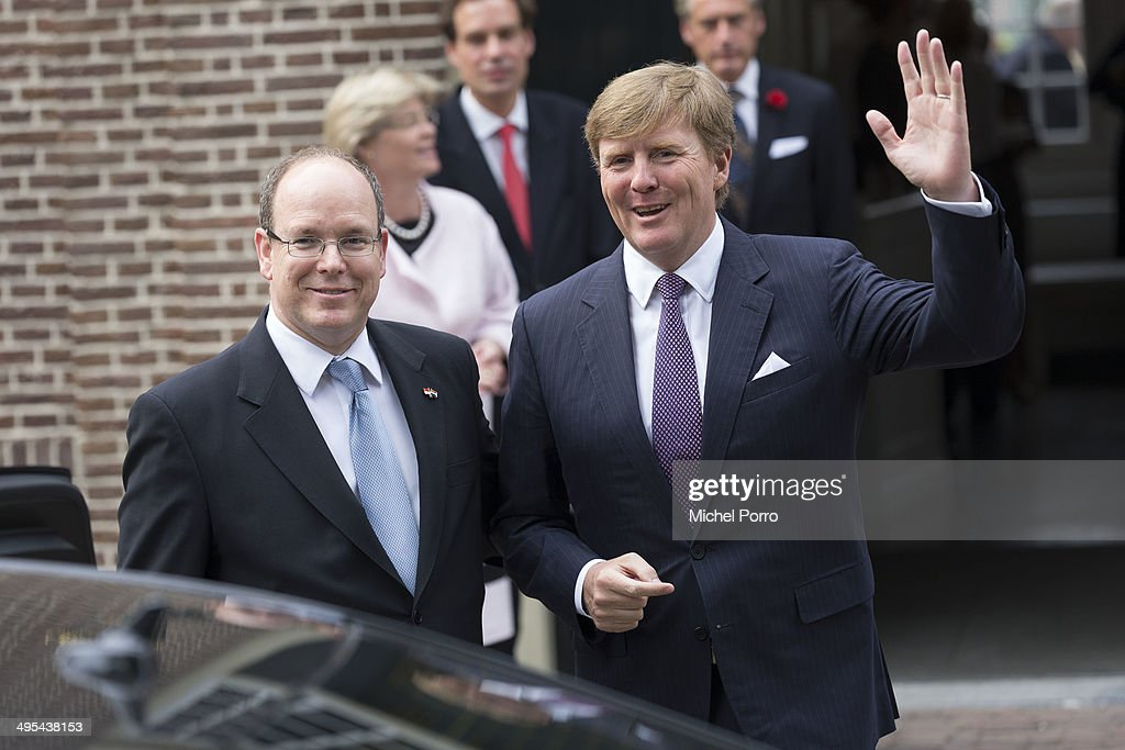 Prince Albert Of Monaco On Official Visit in The Netherlands : News Photo