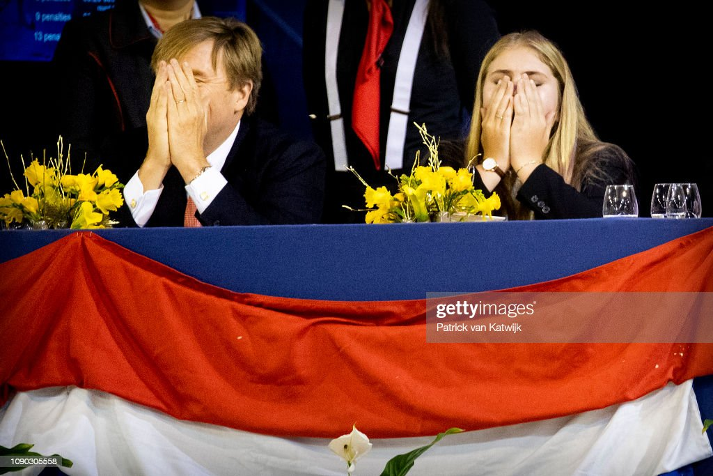 King Willem-Alexander Of The Netherlands And Princess Amalia Of The Netherlands Attend The Amsterdam Jumping : News Photo