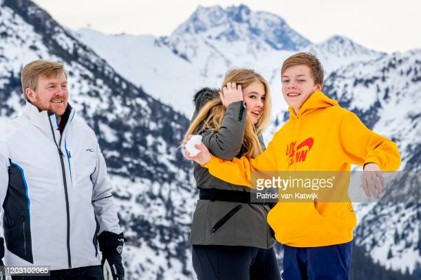 King WillemAlexander of The Netherlands and Princess Amalia of The Netherlands and Count ClausCasimir of The Netherlands during the annual photo call...