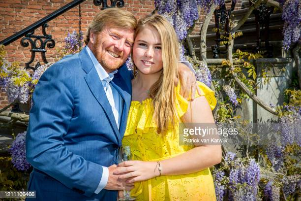 King Willem-Alexander of The Netherlands and Princess Amalia of The Netherlands celebrate the 53rd birthday of the King at their residence Palace...