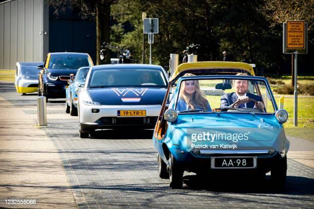 King Willem-Alexander of The Netherlands and Princess Catharina-Amalia, Princess of Orange followed by Queen Maxima of The Netherlands and Princess...