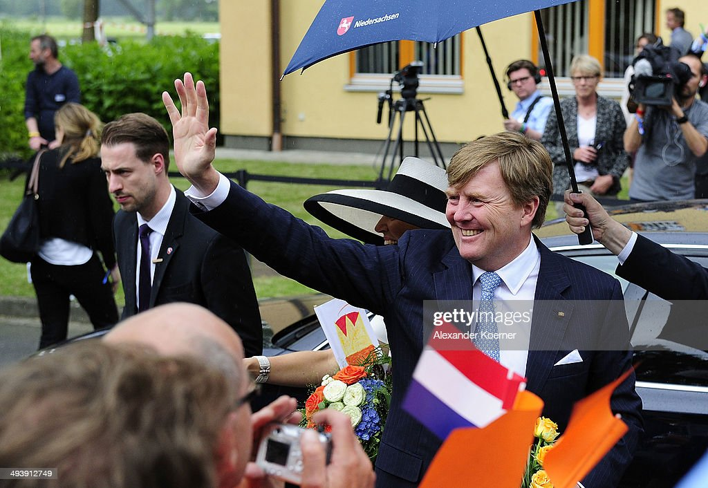 King Willem-Alexander And Queen Maxima Of The Netherlands Visit Lower-Saxony : News Photo