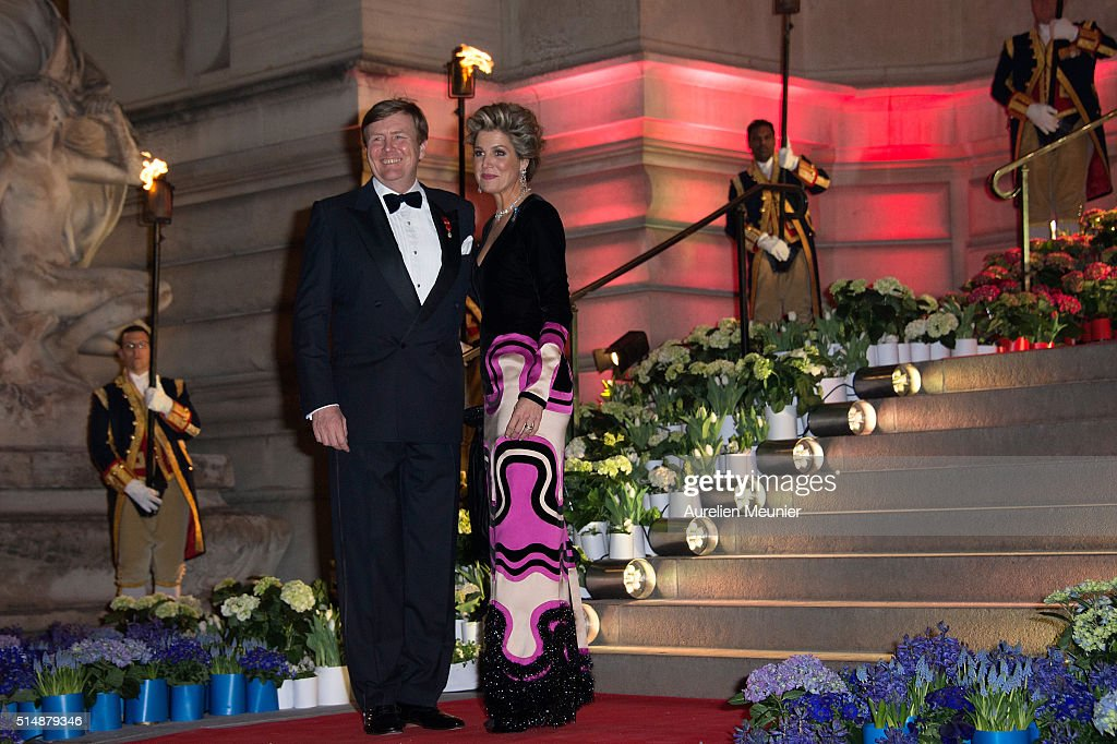 King Willem-Alexander Of The Netherlands And Queen Maxima On Official Two Days State Visit In Paris : Day Two : News Photo