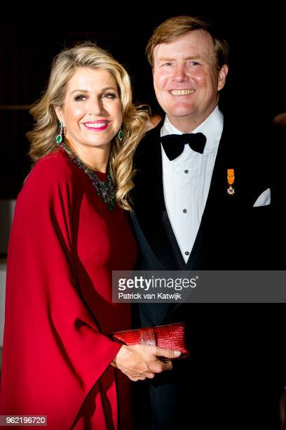 King WillemAlexander of The Netherlands and Queen Maxima of The Netherlands attend a concert offered to the Grand Ducal family on May 24 2018 in...