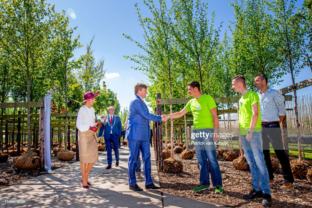 King Willem-Alexander Of The Netherlands & Queen Maxima Of The Netherlands Visit Betuwe : News Photo