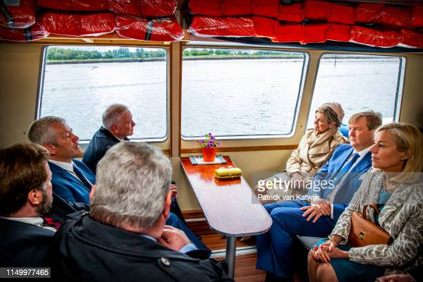King WillemAlexander of The Netherlands and Queen Maxima of The Netherlands during an boat tour on June 14 2019 in CorkIreland