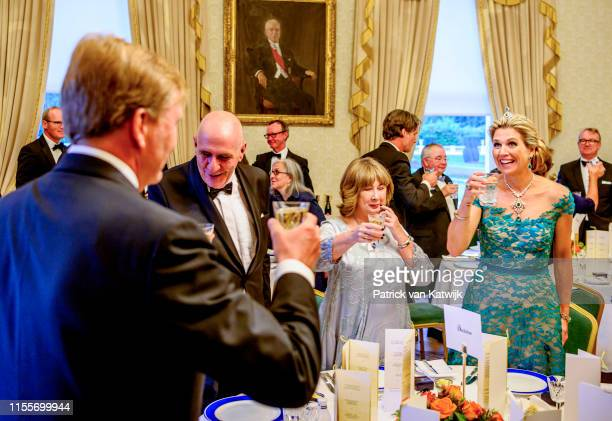 King WillemAlexander of The Netherlands and Queen Maxima of The Netherlands during an official state banquet offered by President Michael Higgins of...