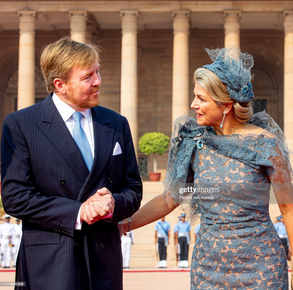 King Willem-Alexander Of The Netherlands And Queen Maxima : State Visit In Delhi : Day One : Nieuwsfoto's