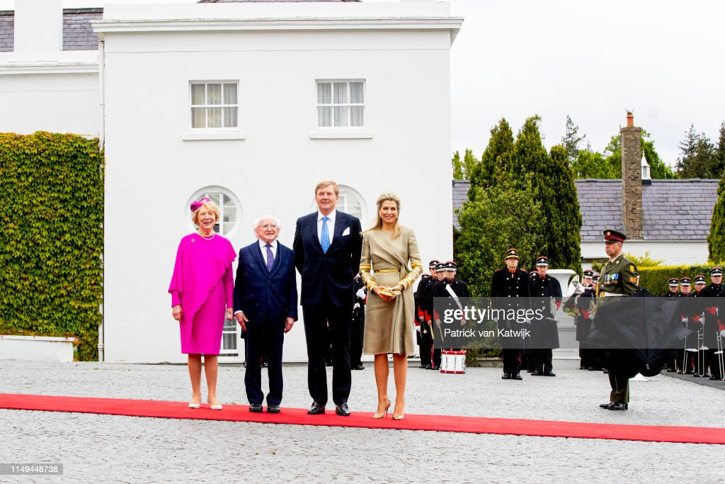State Visit Of The King And Queen Of The Netherlands to Ireland Day One : Nieuwsfoto's