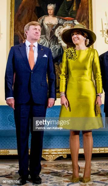 King WillemAlexander of The Netherlands and Queen Maxima of The Netherlands are welcomed by Grand Duke Henri of Luxembourg and Grand Duchess Maria...