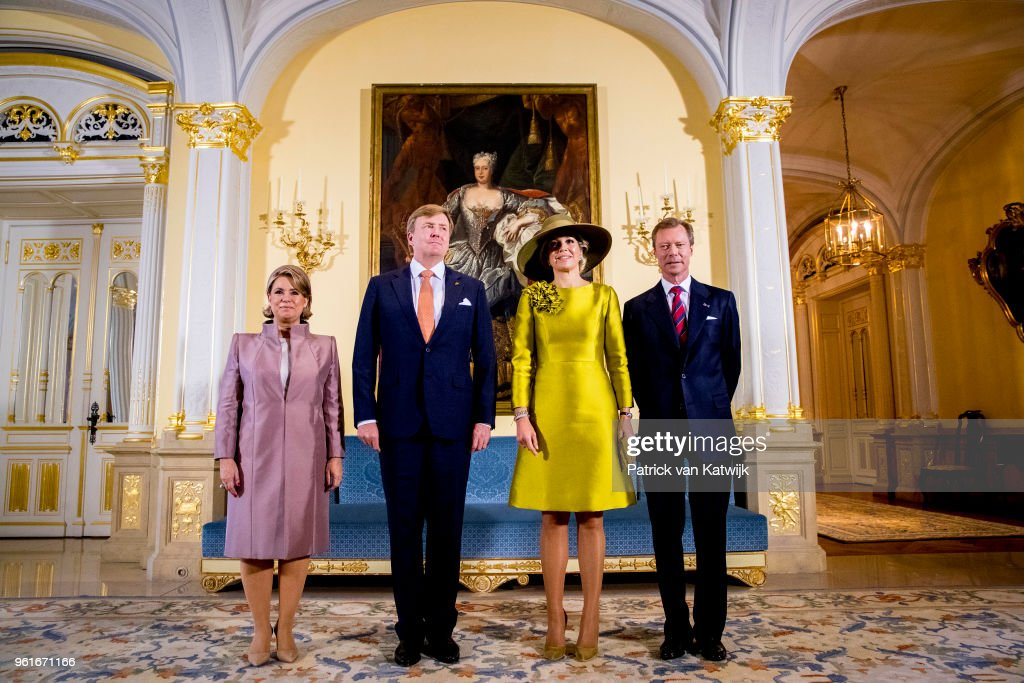 King And Queen Of The Netherlands Visit Luxembourg : Day One : Nieuwsfoto's