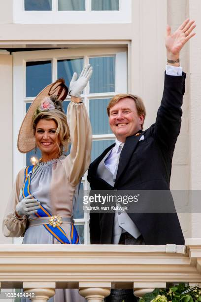 King WillemAlexander of The Netherlands and Queen Maxima of The Netherlands at Palace Noordeine for the annual opening of the Parliamental year...