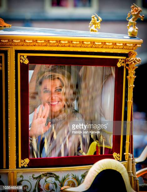 King WillemAlexander of The Netherlands and Queen Maxima of The Netherlands arrive at the Binnenhof for the annual opening of the Parliamental year...