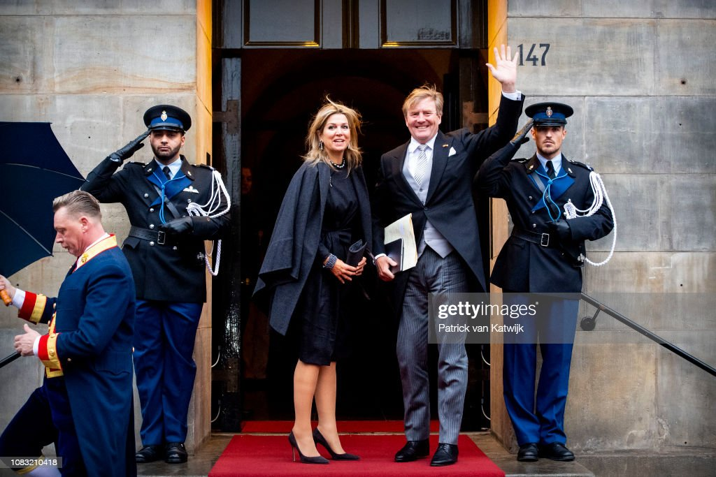 Dutch Royal Family Attends New Year Reception For Diplomatic Corps At Royal Palace In Amsterdam : Nieuwsfoto's