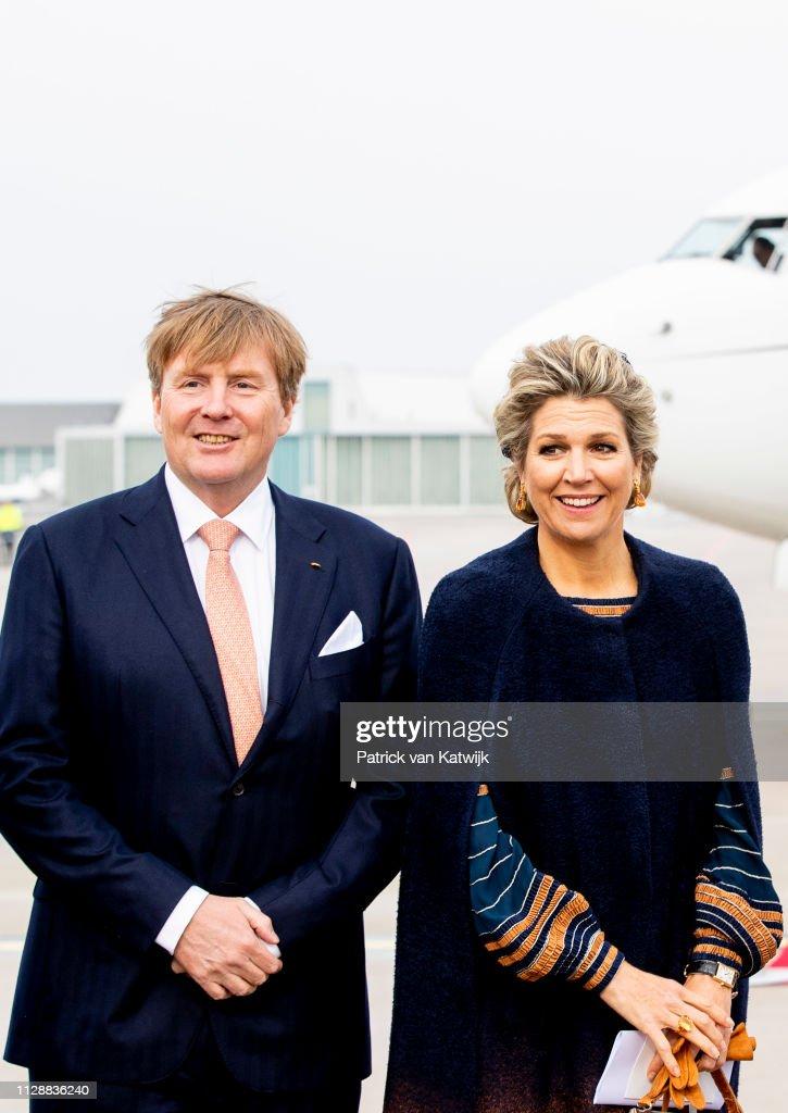 King Willem-Alexander and Queen Maxima Of The Netherlands Visit Bremen, Germany : Nieuwsfoto's