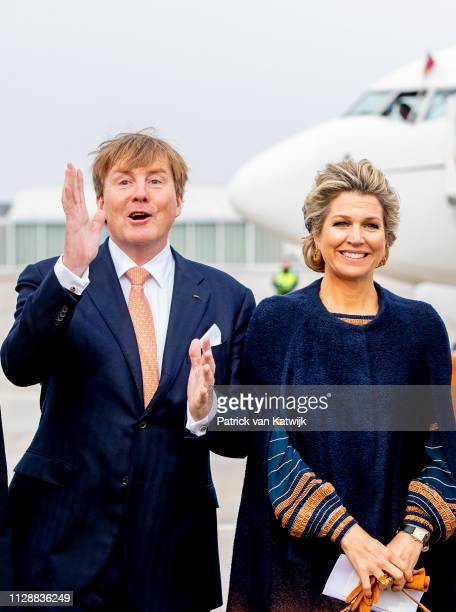 King WillemAlexander of The Netherlands and Queen Maxima of The Netherlands arrive at the airport on March 6 2019 in Bremen Germany Each year the...