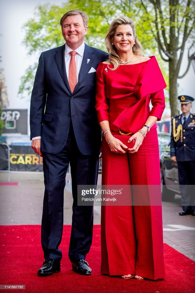 King Willem-Alexander and Queen Maxima at liberation day concert 5 May Amsterdam : Nieuwsfoto's
