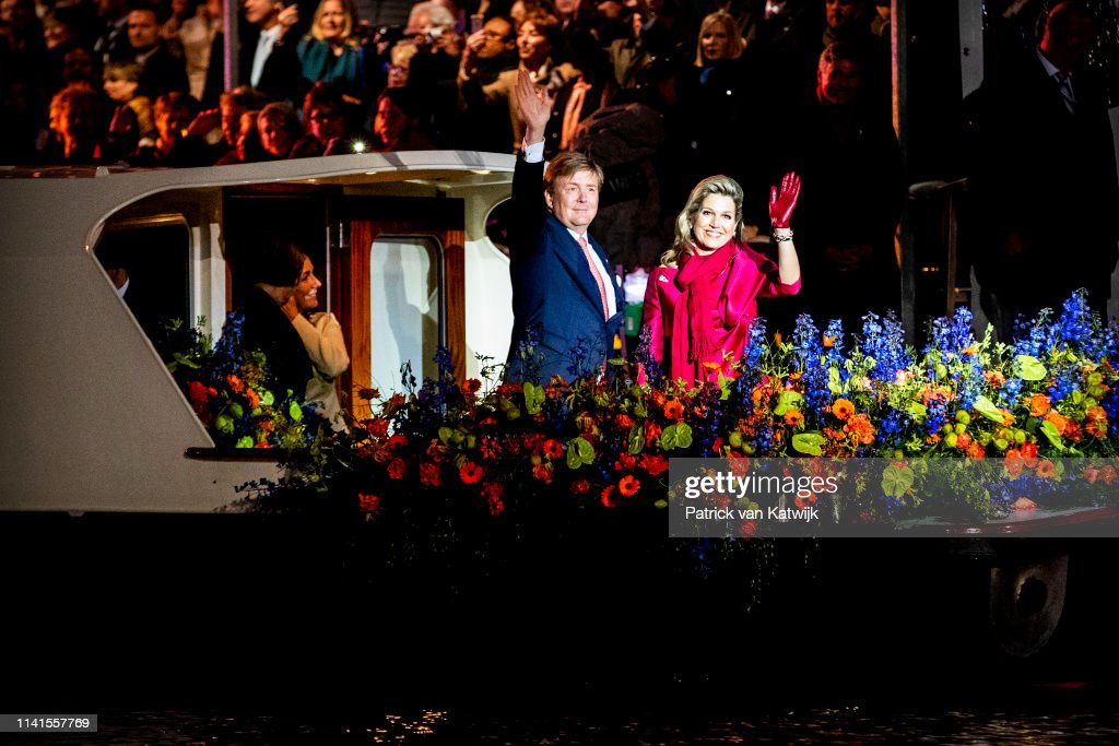 King Willem-Alexander and Queen Maxima at liberation day concert 5 May Amsterdam : News Photo