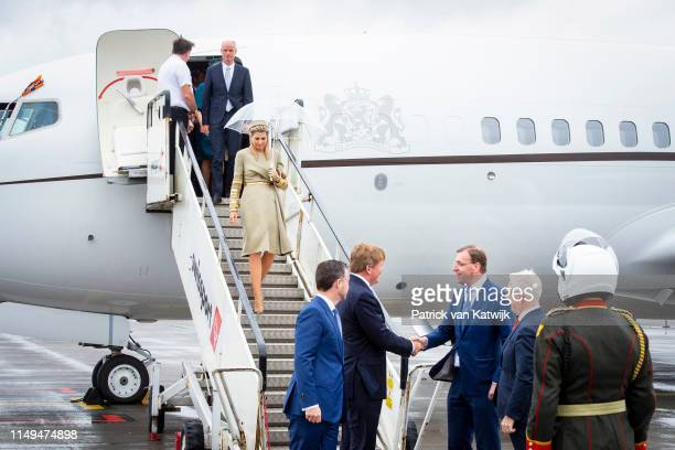 King WillemAlexander of The Netherlands and Queen Maxima of The Netherlands arrive at the airport on June 12 2019 in DublinIreland