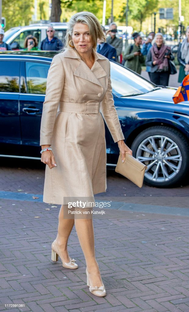 King Willem-Alexander and Queen Maxima at seminar and exhibition India in The Netherlands at Rijksmuseum Amsterdam : News Photo