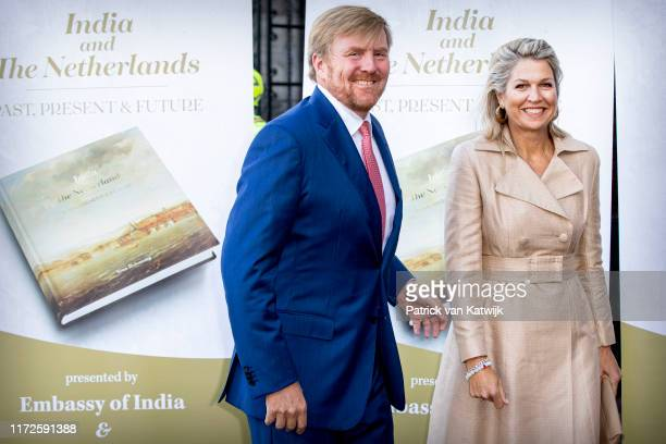 King Willem-Alexander of The Netherlands and Queen Maxima of The Netherlands at the India in The Netherlands Seminar at the Rijksmuseum on September...