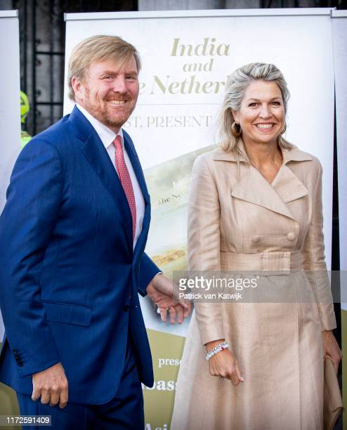 King WillemAlexander of The Netherlands and Queen Maxima of The Netherlands at the India in The Netherlands Seminar at the Rijksmuseum on September...