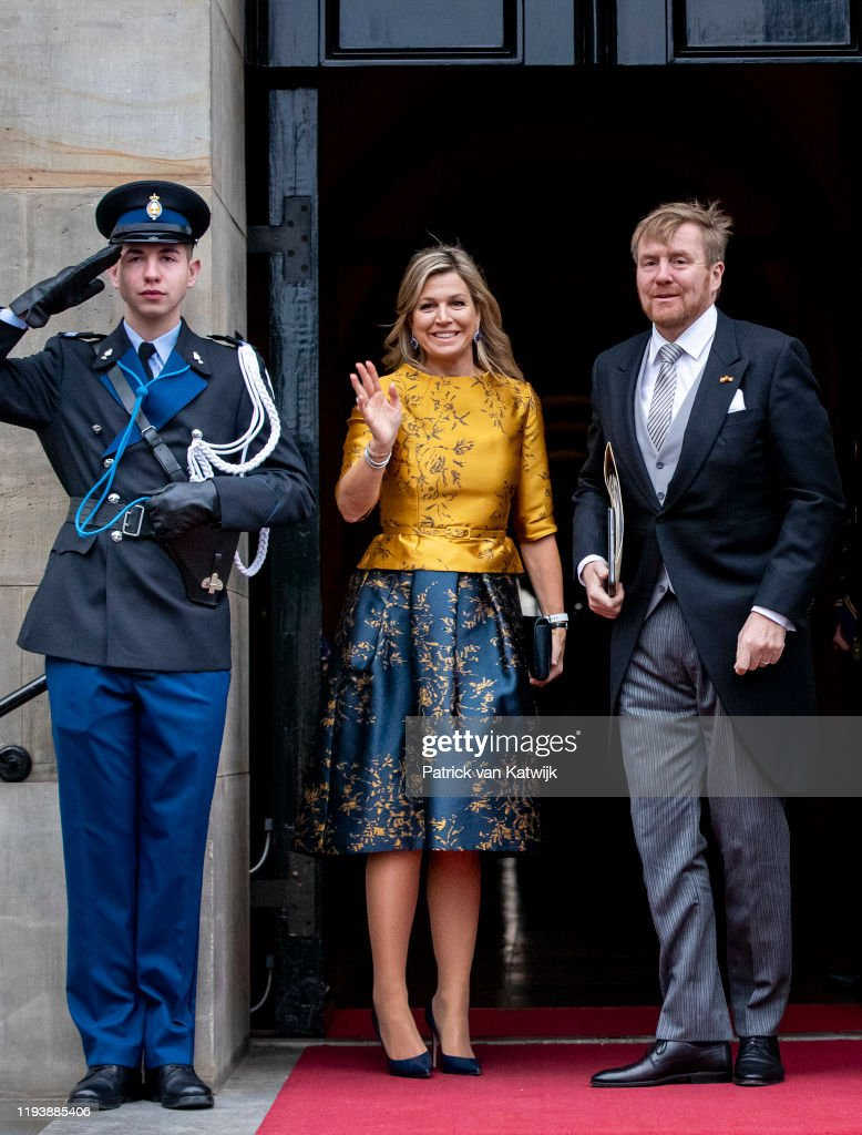 Dutch Royal Family Attends New Year Reception For Diplomatic Corps At Royal Palace In Amsterdam : News Photo