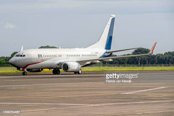 King WillemAlexander of The Netherlands and Queen Maxima of The Netherlands arrive at the airport on March 9 2020 in Jakarta Indonesia The Dutch King...
