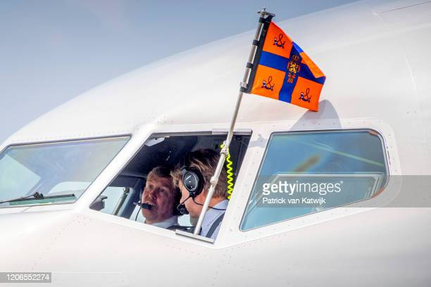 King WillemAlexander of The Netherlands and Queen Maxima of The Netherlands arrive at the airport of Jogyjakarta with the Dutch Government plane...