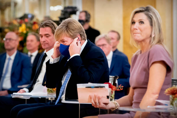 NLD: King Willem-Alexander Of The Netherlands And Queen Maxima Attend A Conference About Debt At Noordeinde Palace
