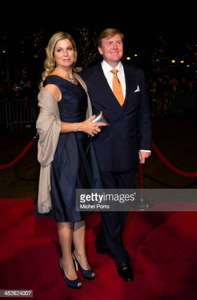 King Willem-Alexander of The Netherlands and Queen Maxima of The Netherlands arrive at the Circus Theatre for celebrations of the 200th anniversary...