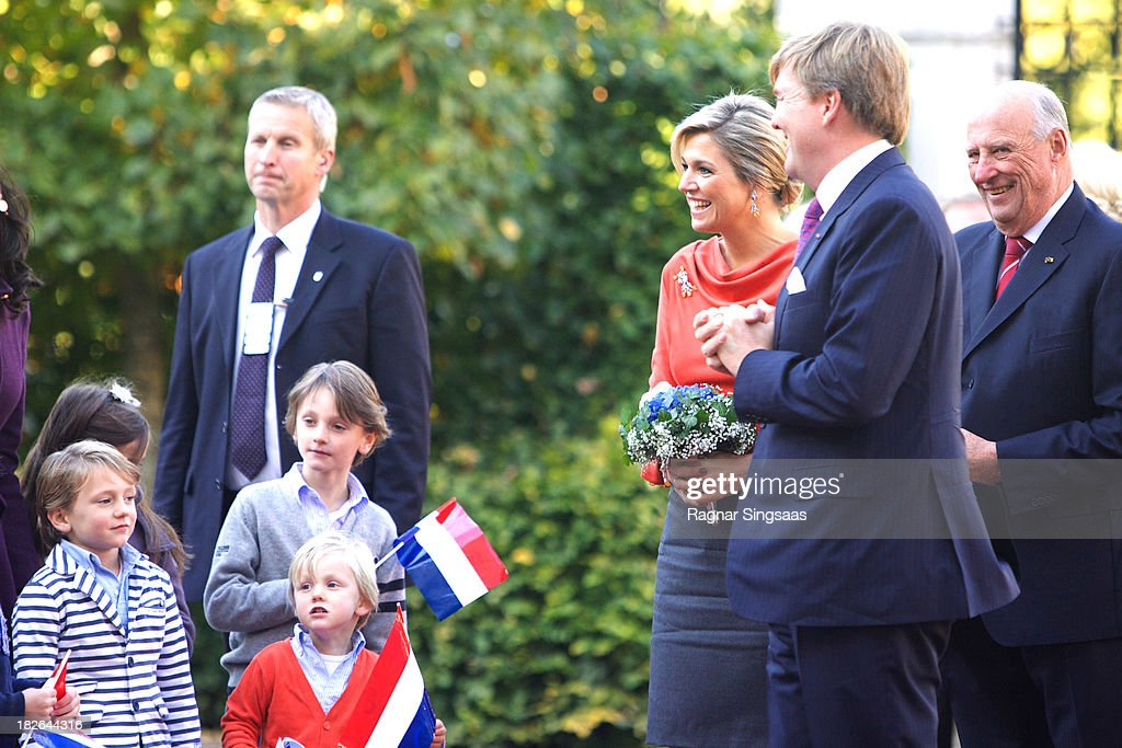 King Willem-Alexander & Queen Maxima Of The Netherlands Visit Oslo : News Photo