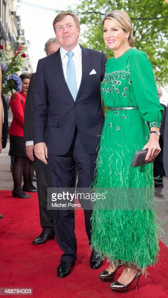 King Willem-Alexander of The Netherlands and Queen Maxima of The Netherlands arrive for the Freedom concert on May 5, 2014 in Amsterdam, Netherlands....