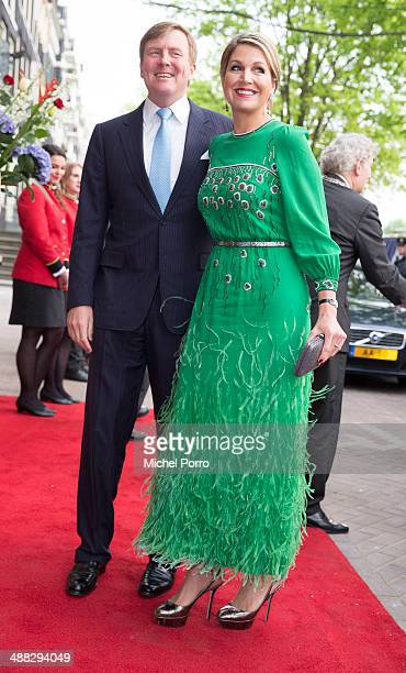 King WillemAlexander of The Netherlands and Queen Maxima of The Netherlands arrive for the Freedom concert on May 5 2014 in Amsterdam Netherlands...
