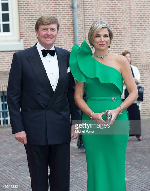 King WillemAlexander of The Netherlands and Queen Maxima of The Netherlands arrive for dinner at the Loo Royal Palace on June 3 2014 in Apeldoorn...