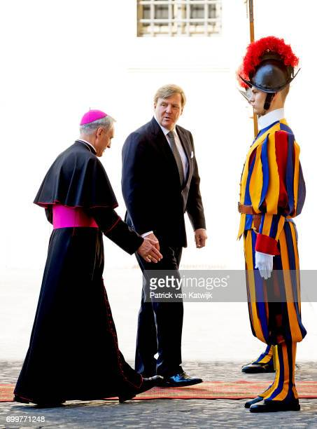 King WillemAlexander of The Netherlands and Queen Maxima of The Netherlands visit His Holiness Pope Francis in the Apostolic palace on June 22 2017...
