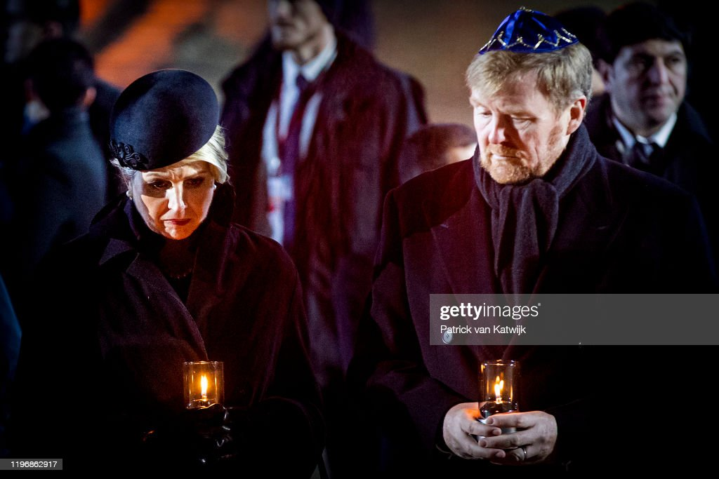 Auschwitz Memorial Commemorates 75th Anniversary Since Liberation : Nieuwsfoto's