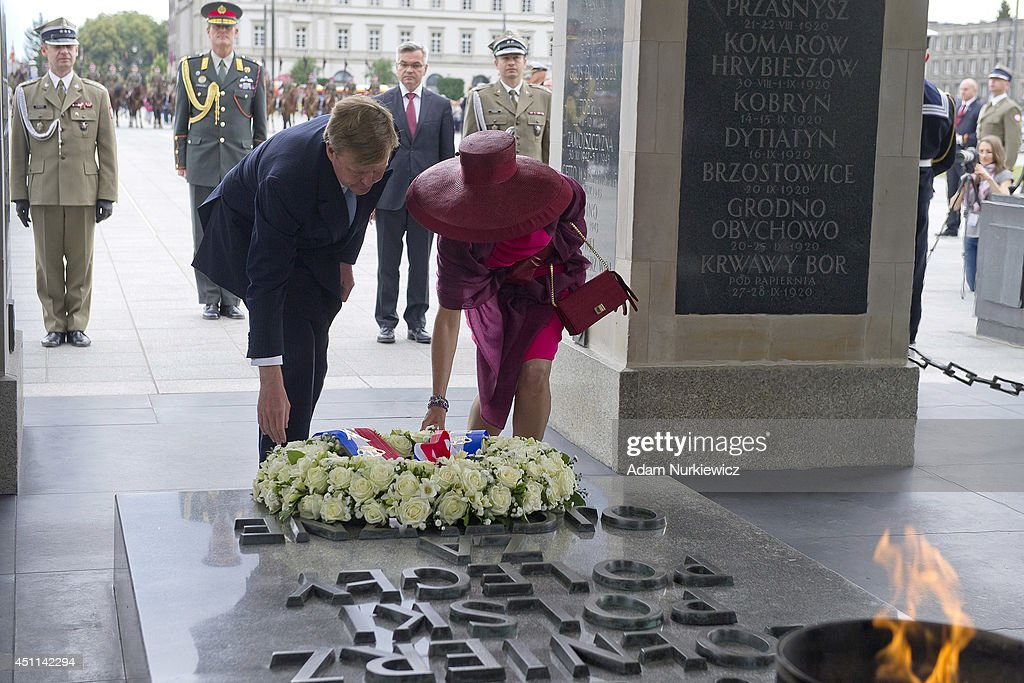 King Willem-Alexander And Queen Maxima Of The Netherlands Visit Warsaw : News Photo